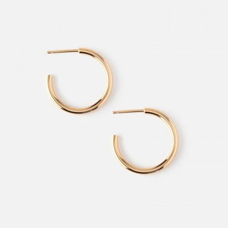 Orelia Pale Gold Chunky Mid Size Hoops