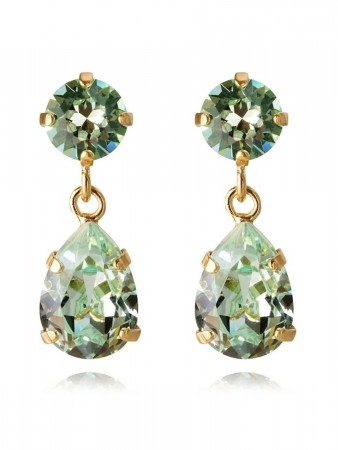 Caroline Svedbom Mini Drop Earring Gold Chrysolite