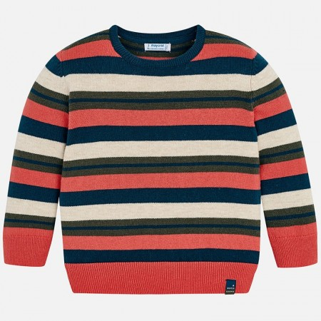Mayoral Apricot Striper Sweater
