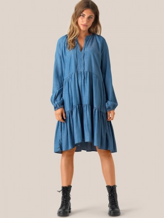 Second Female Blue Denim Lilla Ls Dress