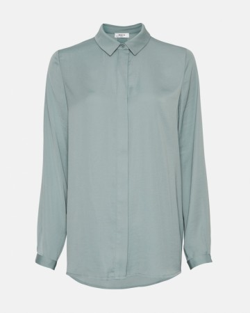 Moss Copenhagen - Chinois Green Blair Seasonal Polysilk Shirt
