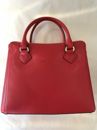 Pourchet Rouge Dame Grainy Synthetic Tote