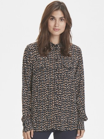 Part Two Irregular Dot Print, Black. Tally Sh