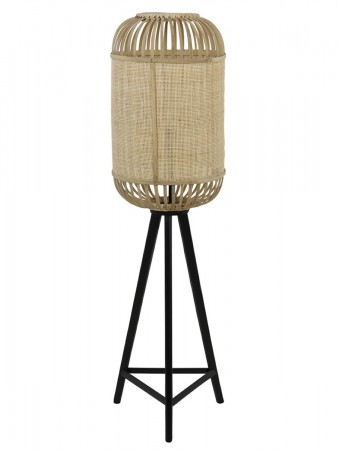 Light And Living Alfia Bamboo+webbing Natural ø:40*140cm Floor Lamp
