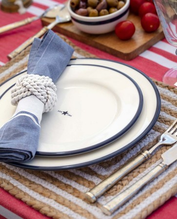 Lexington Blue/white Napkin With Stripe 50x50