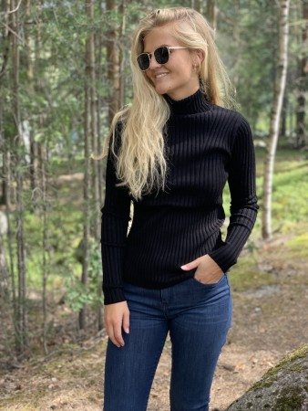 Msch Black Erica Slim Roll Neck