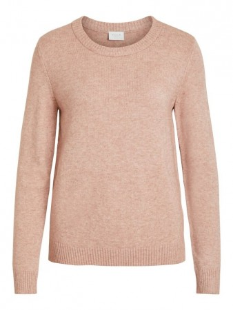Vila Ash Rose Viril L/s O-neck Knit Top-noos