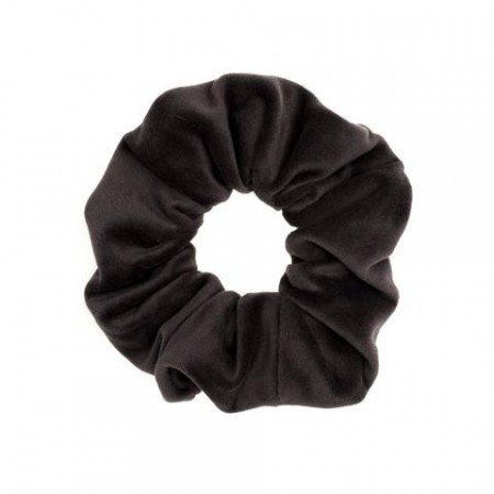 Dark Grey Velvet Scrunchies