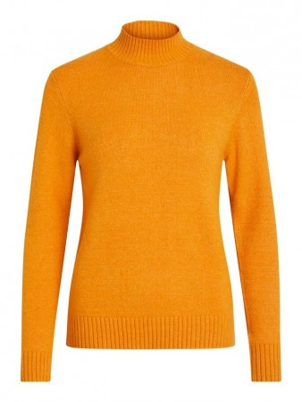 Vila Golden Oak Viril L/s Turtleneck Knit Top-noos