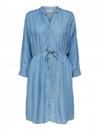 Selected Femme Light Blue Slfmarla 7/8 Dress W