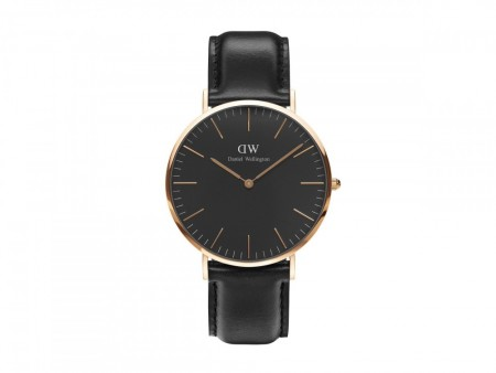 Daniel Wellington Rose Gold Classic Sheffield Black