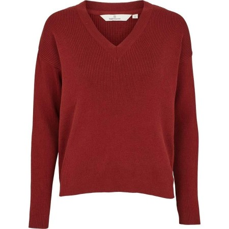 Basic Apparel Russet Red Philo V-neck