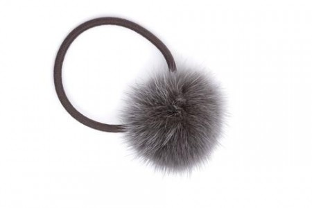 Dark Grey Mink Hair Pom
