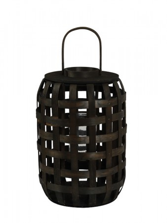 Light And Living Lanterne ø:30*45 Cm Viktor Bamboo Dark Brown