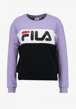 Fila Black Iris-true Red-bright White Women Leah Crew Sweat