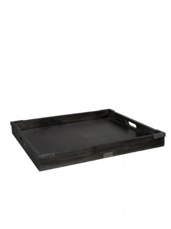 Artwood Black Square Kingsroad Tray Black