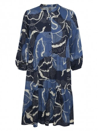 Culture Blue Iris Cushania Leaf Dress