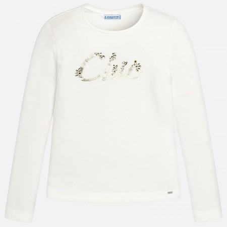 Mayoral Offwhite L/s Basic T-shirt