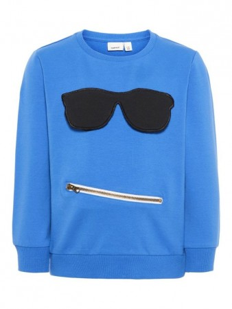 Name It Strong Blue Nmmfaton Light Sweat Unb