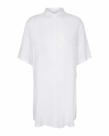 Msch White Simpel Beach Shirt