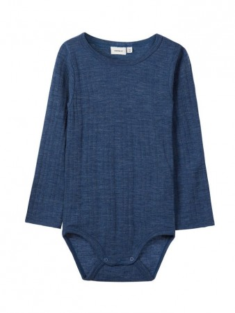 Name It Ensign Blue Nmmwang Wool Needle Ls Body Noos