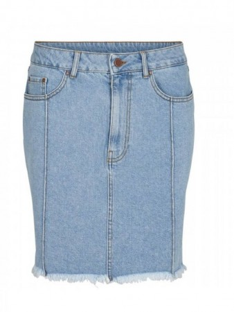 Second Female Light Blue Denim Uma Hw Denim Skirt