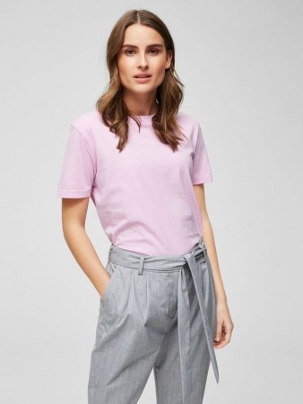 Selected Femme Orchid Bouquet Slfmy Perfect Ss Tee Box Cut Color