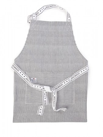 Lexington Dk.gray Oxford Striped Apron 80x105 Cm