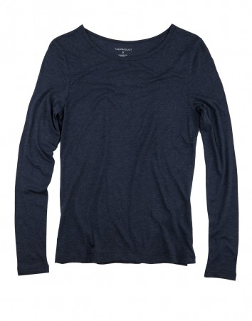 The Product 80 Blue Melange Wmn Long Sleeve
