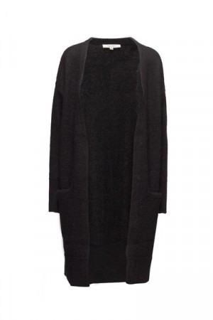 Selected Femme Black Sflivana Knit Cuff Cardigan