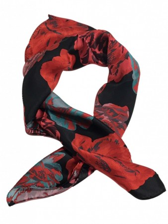 Et Multi Colour Day Silk Peony Scarf Mini