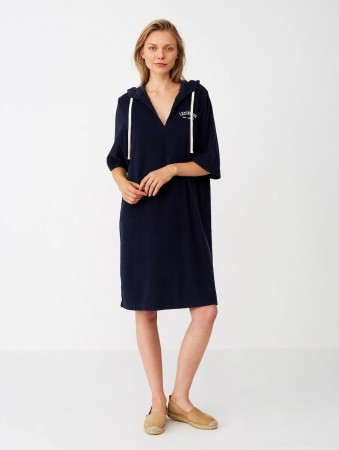 Lexington Dark Blue Petra Terry Dress