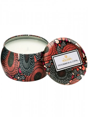 Voluspa Dec Tin Candle 25tim Persimmon & Copal