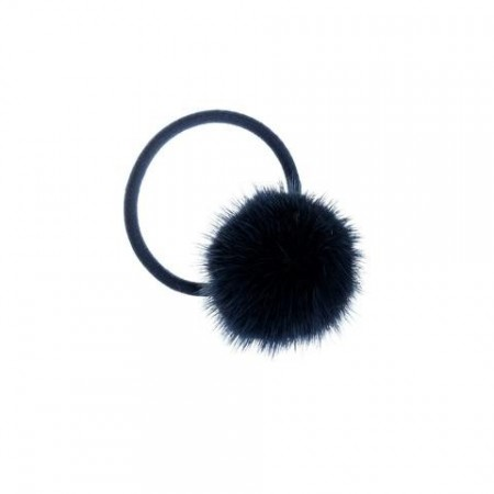 Dark Navy Mink Hair Pom