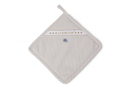 Lexington Beige Oxford Striped Potholder