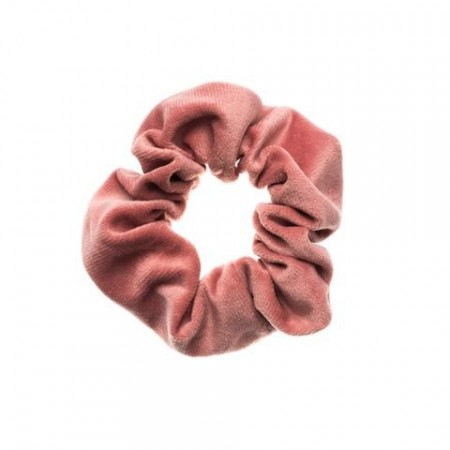 Dark Blush Velvet Scrunchies