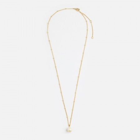 Orelia Gold Pearl Drop Neck