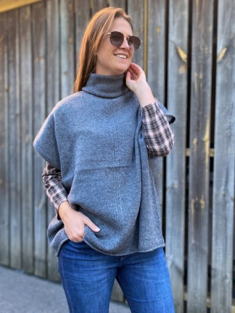Dear Dharma Grey Wool Haley Poncho