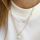 Orelia Gold Pearl Drop Neck thumbnail