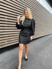 Samsøe Samsøe Black Harriet Short Dress thumbnail