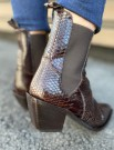 Laura Bellariva Brown - Ladies Ankle Boot - Pitone St.flat T.moro thumbnail