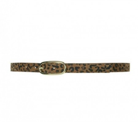 Depeche 082 Leopard Narrow Belt