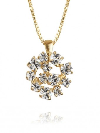 Caroline Svedbom Crystal 001 Kassandra Necklace Gold