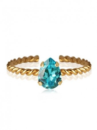 Caroline Svedbom Gold Niki Ring Light Turquoise 263