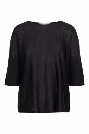 Cathrine Hammel Summer Black Wide Tee