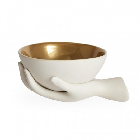 Jonathan Adler Eve Accent Bowl - White/gold Interior