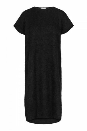 Cathrine Hammel Black Soft Wide Sleeveless Dress