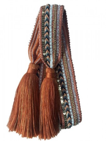 Noranorway Belt Knit Tassle Rust