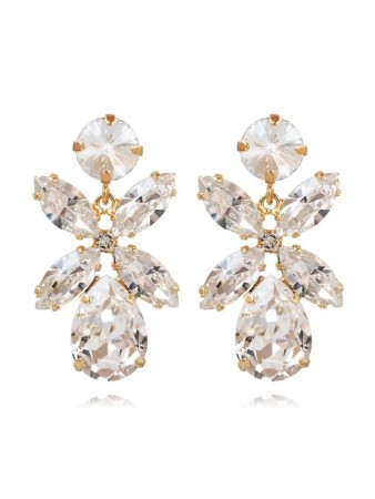 Caroline Svedbom - Mini Dione Earring Gold Crystal 001