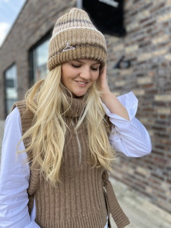 Holzweiler Beige Mix Hypnotized Multi Beanie 21-01